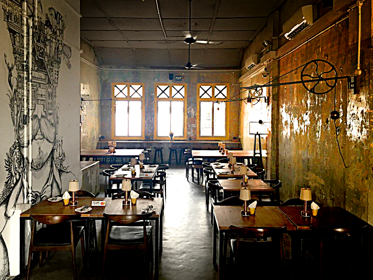 The upper floor of The 1925 Brewing Co. Restaurant.